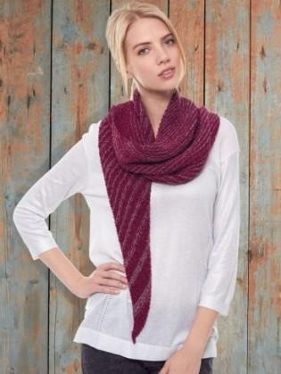 asymetrical shawl patons